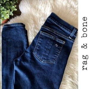 Rag & Bone high rise skinny jeans dark wash